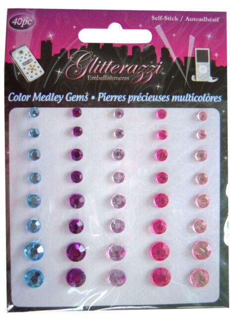 Basteln Edelstein Sticker, Zirkular Strass Kristalle, Karten Bogen #2 Pink Blau