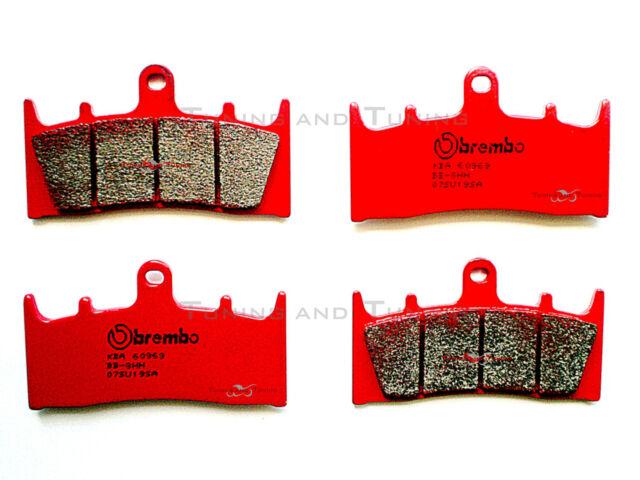 FRONT BRAKE PADS BREMBO SINTERED FOR KAWASAKI ZX6R NINJA 600 1998 1999 07SU19SA
