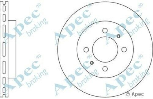 1x OE Quality Replacement Front Axle Apec Vented Brake Disc 4 Stud 254mm Single