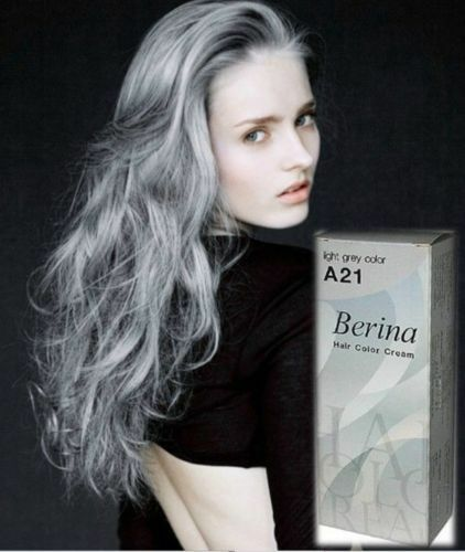 gray hair in style berina a21 dye hair color light grey silver 4907