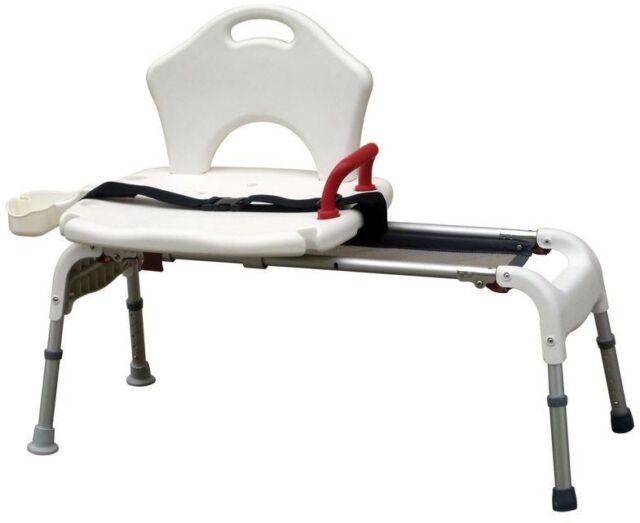 Shower Chair Bath Bench Sliding Transfer Tub Handicap Disabled ...
