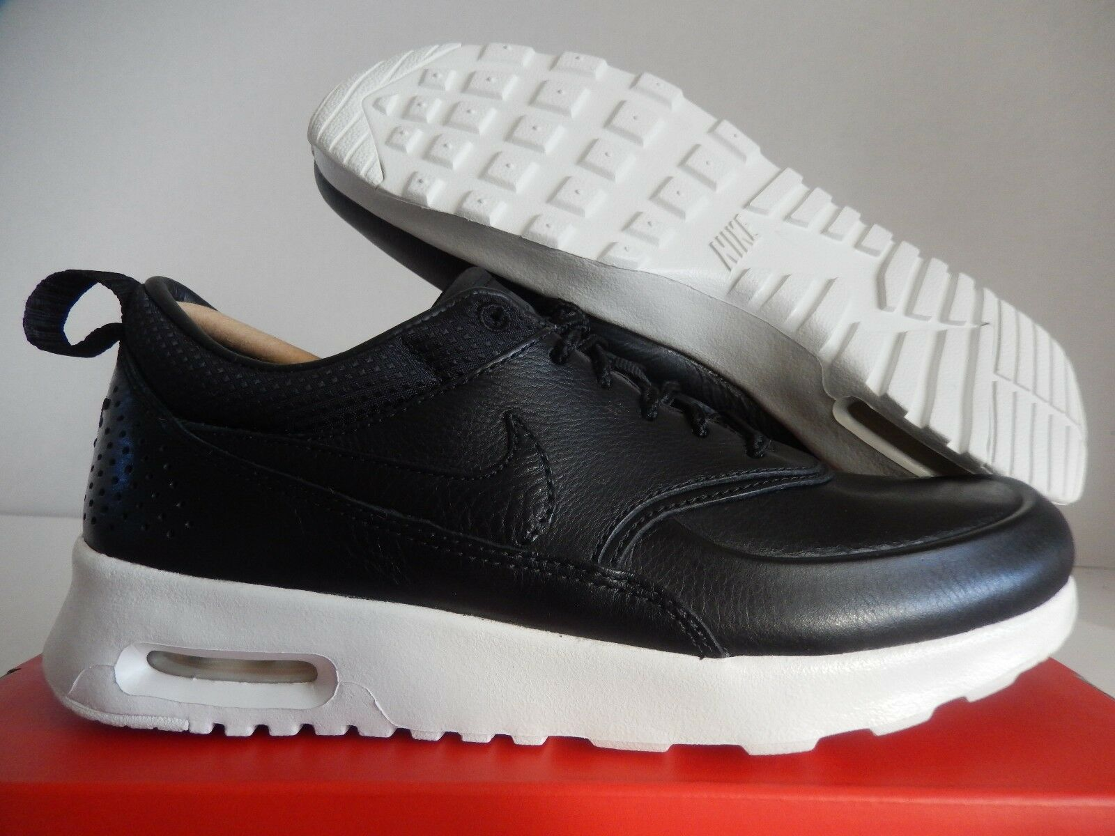 WMNS NIKE AIR MAX THEA PINNACLE BLACK-SAIL SZ 6.5 LEATHER!!! [839611-002]