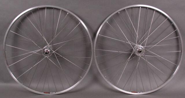 Sun Cr18 27 Silver Rims Fixed Gear Singlespeed Wheelset Wheels