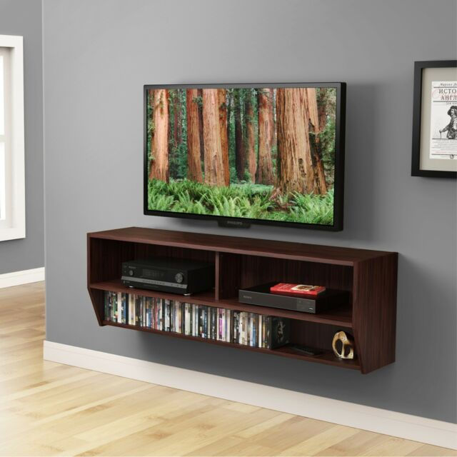 Wall Mount Media Console Floating Shelf Shelves Entertainment Center TV  Stand