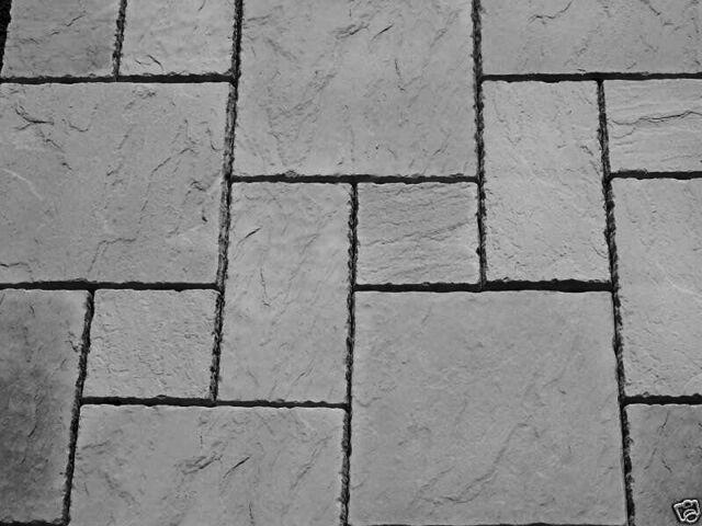 Charcoal York Paving Concrete Patio Slabs 10sqm