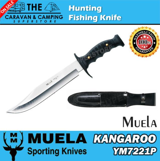 Muela SPANISH MADE KANGAROO SET OF 2 KNIVES HUNTING FISHING KNIFE HUNTER + SHEAT