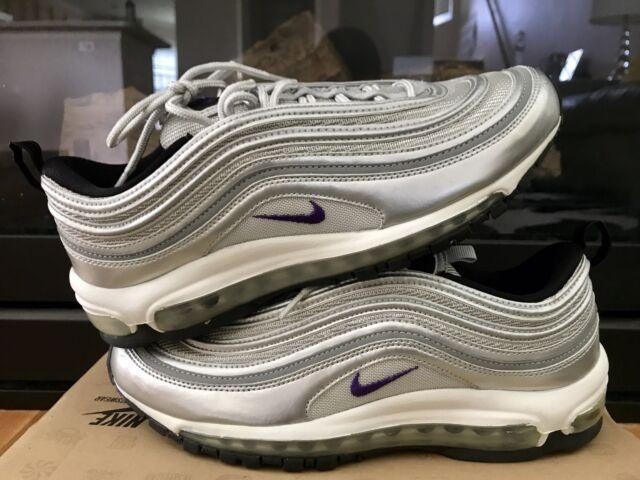 1c332927523b7 ... Nike Air Max 97 Silver Purple Womens Size 11 Mens Size 9.5 NIB  Reflective ...