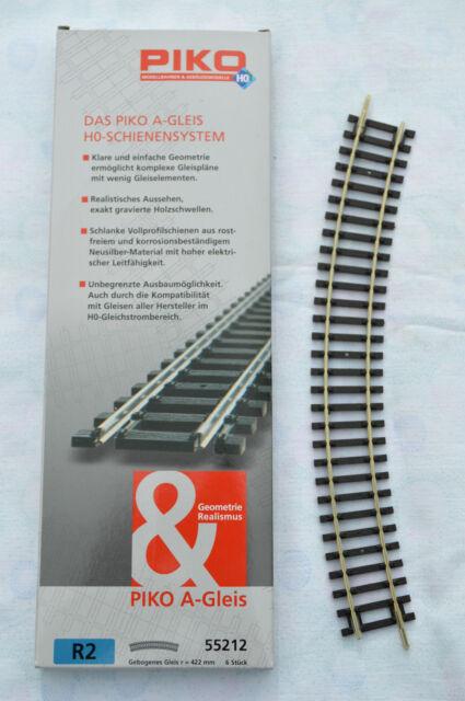 A-Gleis PIKO 55212 Spur H0 Mdelleisenbahn Zubehör gebogenes Gleis 422 mm R2