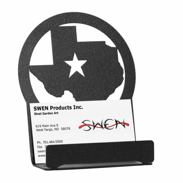 Swen products state of texas star black metal business card holder swen products state of texas star black metal business card holder colourmoves Images