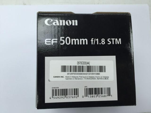 Nuevo Canon EF50mm f/1,8 STM objetivo EF 50mm f/1.8