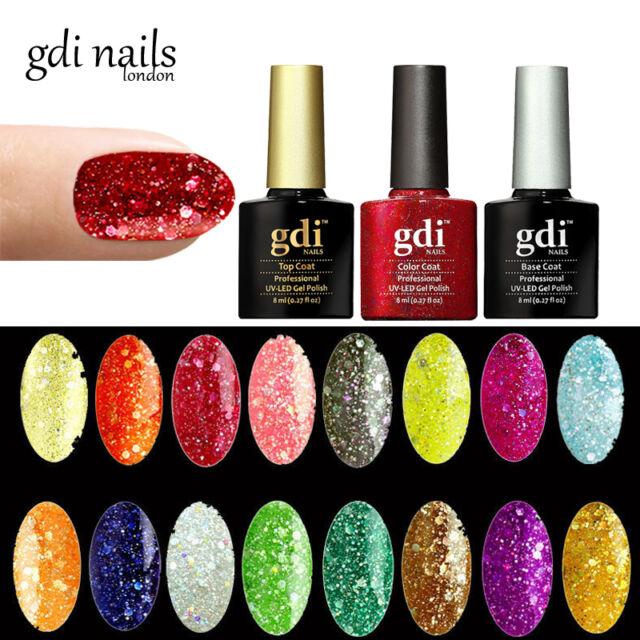 GDI Nails UK Salon 165 Colours Uv/led Soak off GEL Nail Polish OPI ...