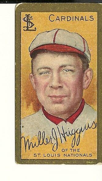 1911 T205 Miller Huggins Cardinals VG/EX Centered Beautiful Pix Honest Long Cut