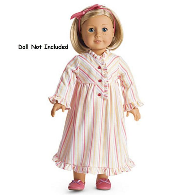 American Girl Kit\'s Nightgown Striped Nightie Pajamas Beforever Kit ...