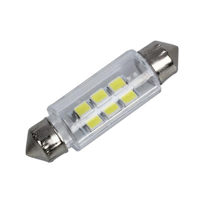 New Practical  38mm White 6 SMD LED Car Interior Dome Light Lamp Bulb DC 12 J0E6