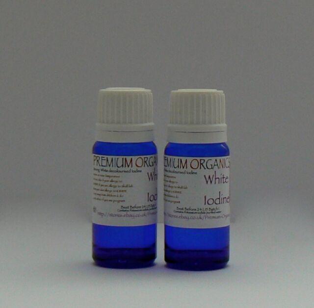 12 Strong White Iodine Alopecia Nails 2x15ml.no Alcohol or Ammonia ...