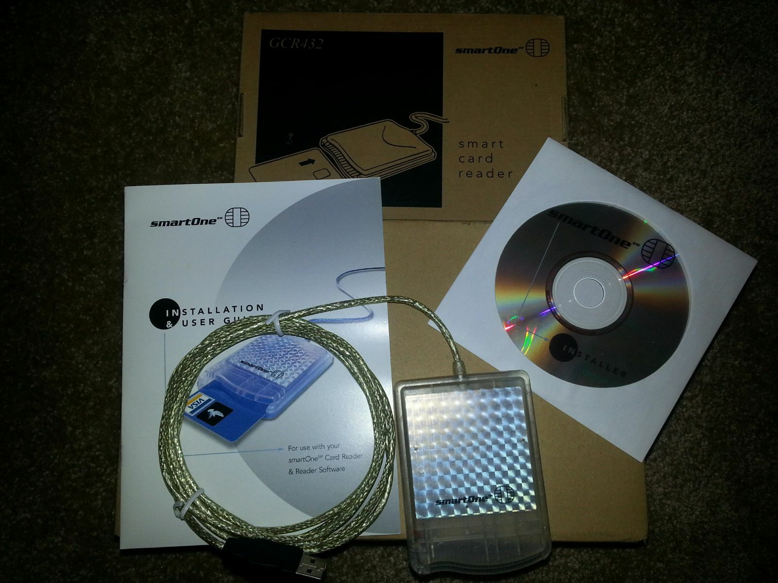 Never Fusion VISA Smart Card Reader Gemplus GCR432 Hwp102847 Bo | eBay