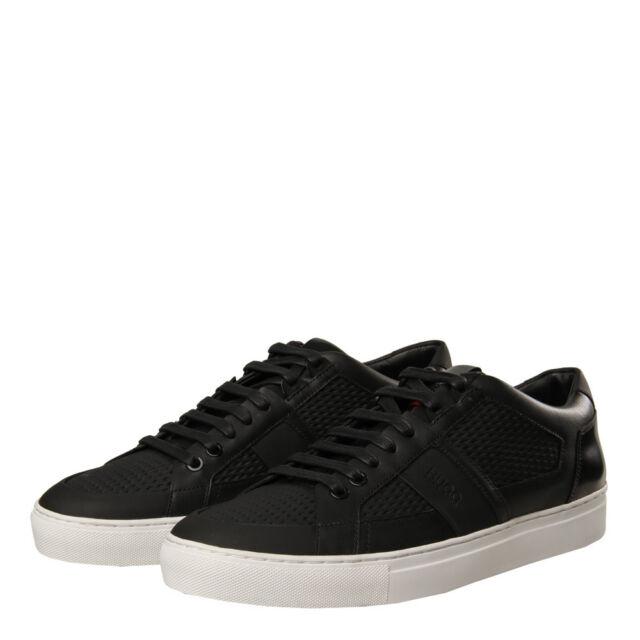 Provide Mens HUGO Futurism Trainers Shoes Black