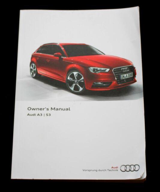 genuine audi a3 s3 handbook owners manual 2012 2016 book ebay rh ebay com 2012 audi a4 owners manual 2015 audi a3 owners manual
