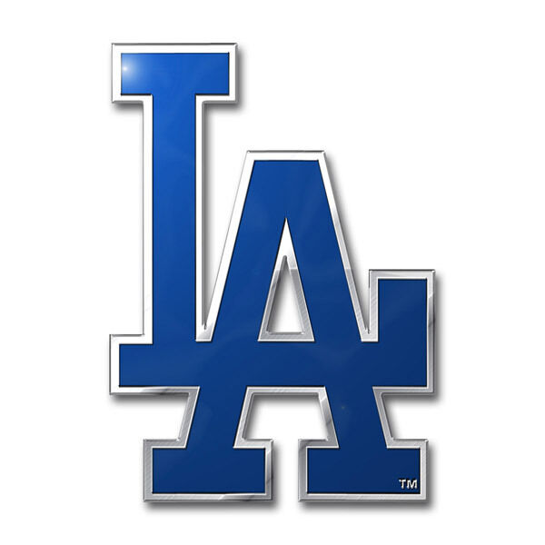 Los Angeles Dodgers Die Cut Metal Auto Emblem La Mlb Car Decal