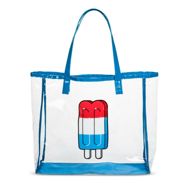 Mossimo Women S Popsicle Ices Print Jelly Tote Handbag Beach Clear Blue