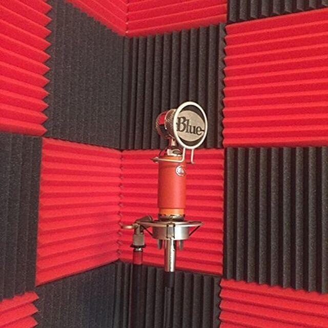 Theatre Acoustic Walls Diy Foam: Acoustic Foam Wedges 12pc Soundproofing Tiles Noise
