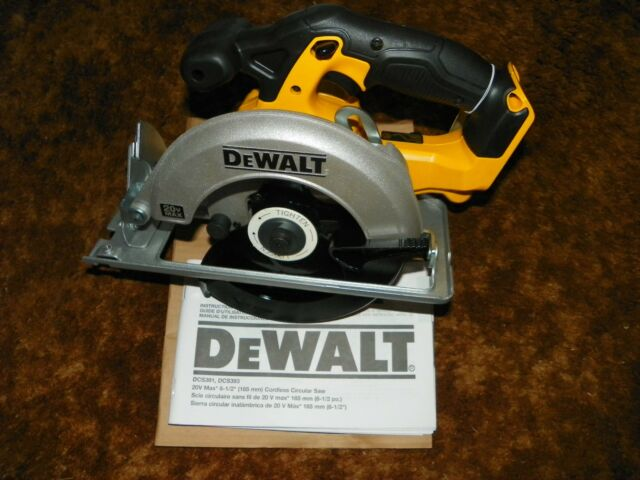 20v dewalt cordless circular saw dcs393 bare tool only ebay new 20v dewalt cordless circular saw dcs393 bare tool out of kit with blade greentooth Choice Image