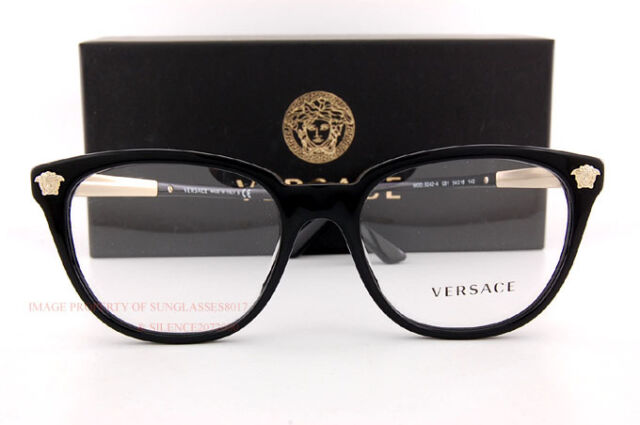Versace Eyeglass Frames 3242 Gb1 Black for Women 100 Authentic Clear ...