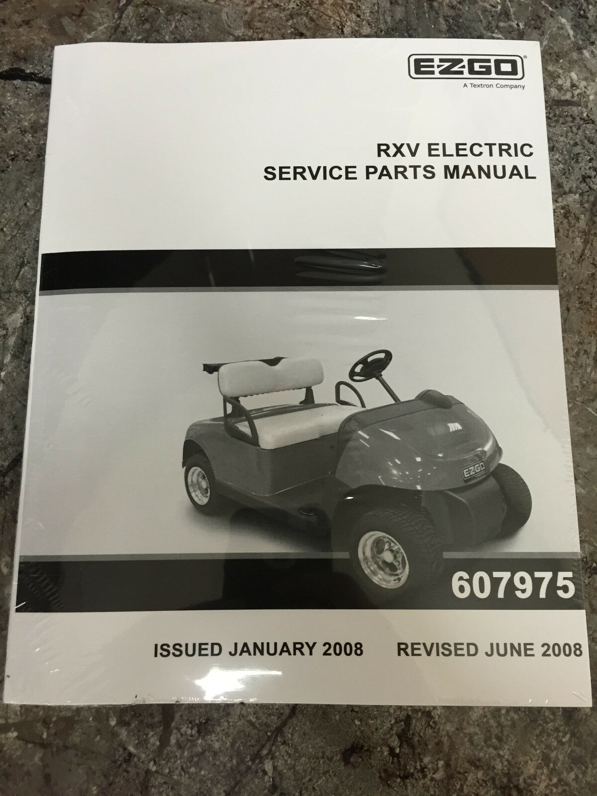 ez go golf cart part rxv electric service parts manual 607975 ebay rh ebay com ezgo rxv electric service & repair manual Ezgo TXT Golf Cart