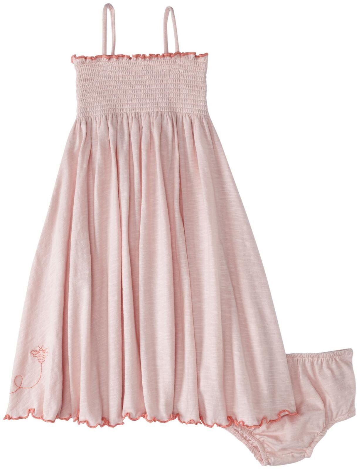 Burt s Bees Baby Girl Knit Dress & Bloomer Set Petal Pink Spaghetti