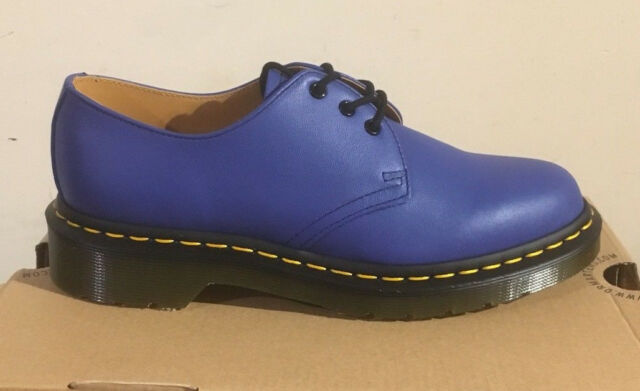 Dr. T Martens 1461 Wild Blau Softy T Dr. Leder Schuhes Größe UK 3     f0aea3