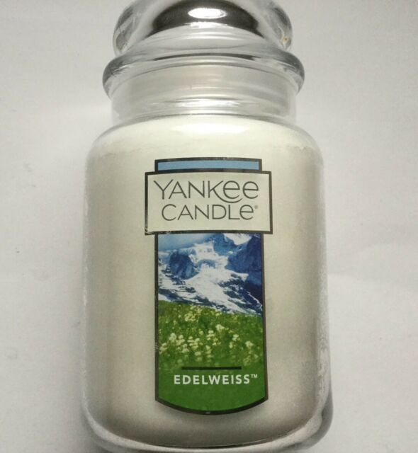 YANKEE CANDLE MY FAVORITE THINGS EDELWEISS 22 oz. LARGE JAR HTF SCENT