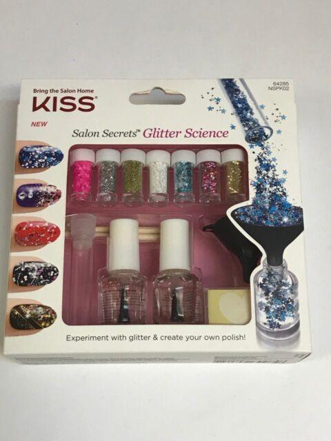 Kiss Salon Secrets Glitter Science Nail Art Kit 7x Glitters 64285 | eBay