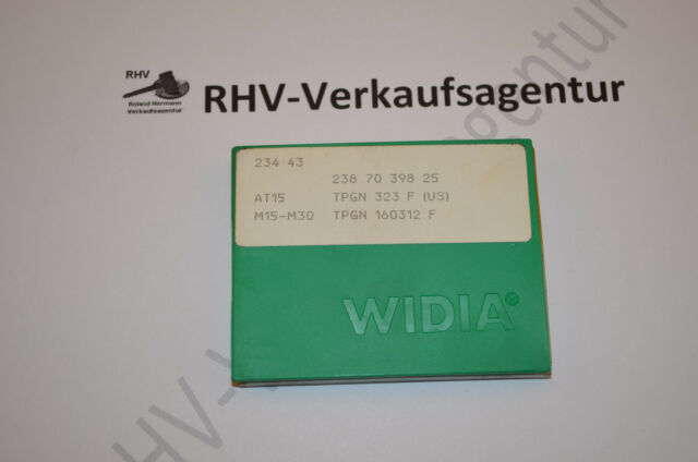 Wendeschneidplatten, TPGN160312 F,AT15, 10Stück, WIDIA, RHV7065