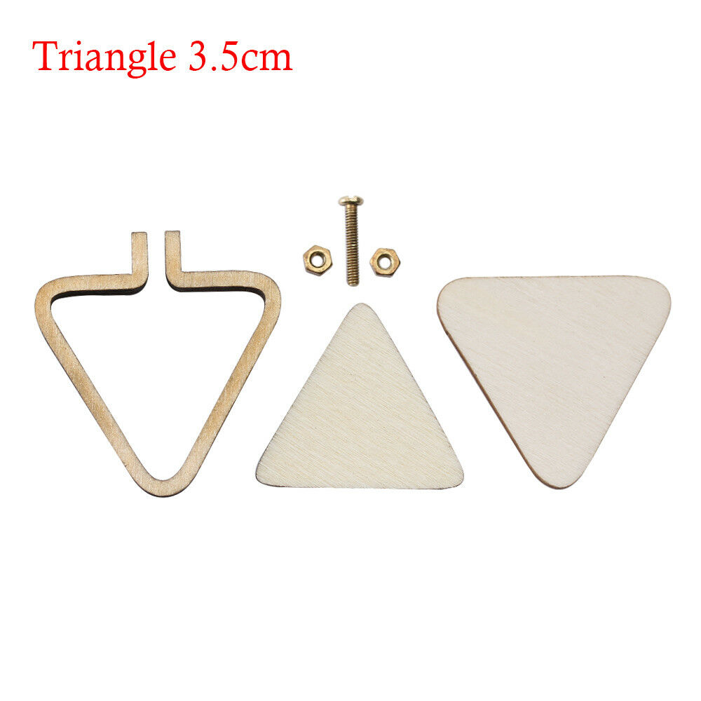 Mini Embroidery Hoop Lap Frame Stand Wooden Ring Cross Stitch DIY ...