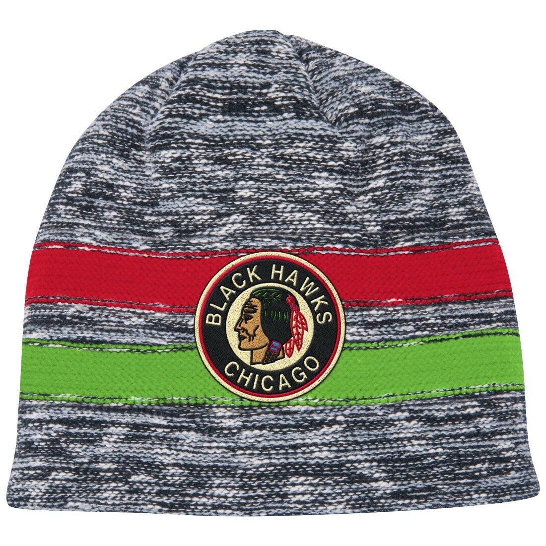 buy popular db10a ab141 ... uk mitchell ness chicago blackhawks knit hat nhl ebay 1ce86 1d505