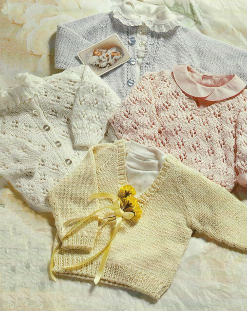 Easy Knit Baby Cardigans and Sweaters Knitting Pattern 18-22\
