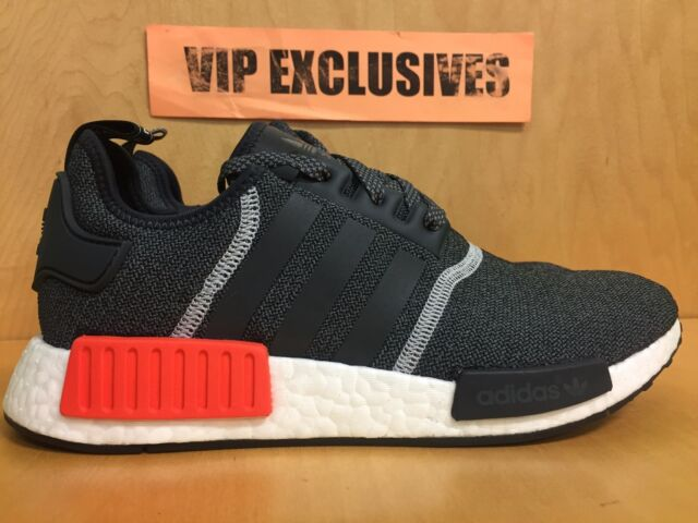 NMD R1 Gray and Orange 9.5 Mens