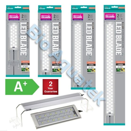 Arcadia Blade Aquarium LED Light Slim IP67 Tropical 170mm   820mm 7w   26w