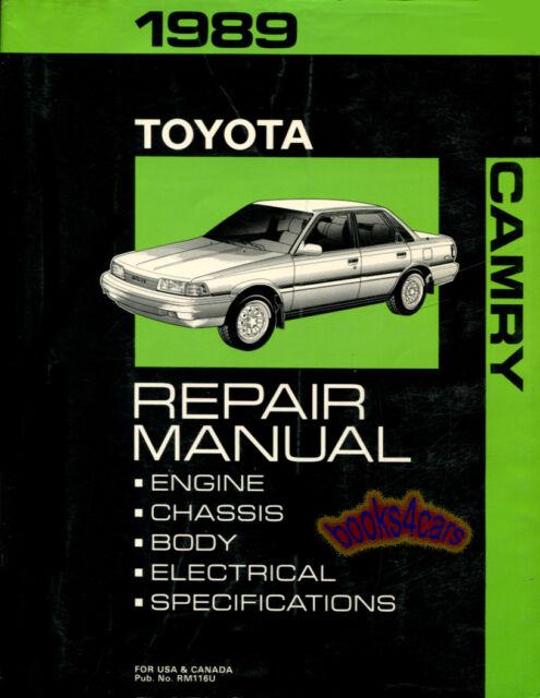 genuine toyota camry 1989 dealership shop service repair manual rm rh ebay com 1989 toyota camry repair manual free download 1999 Toyota Camry