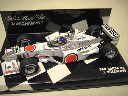 F1 BAR HONDA 02 VILLENEUVE 2000 # 22 au 1/43 MINICHAMPS 430000022