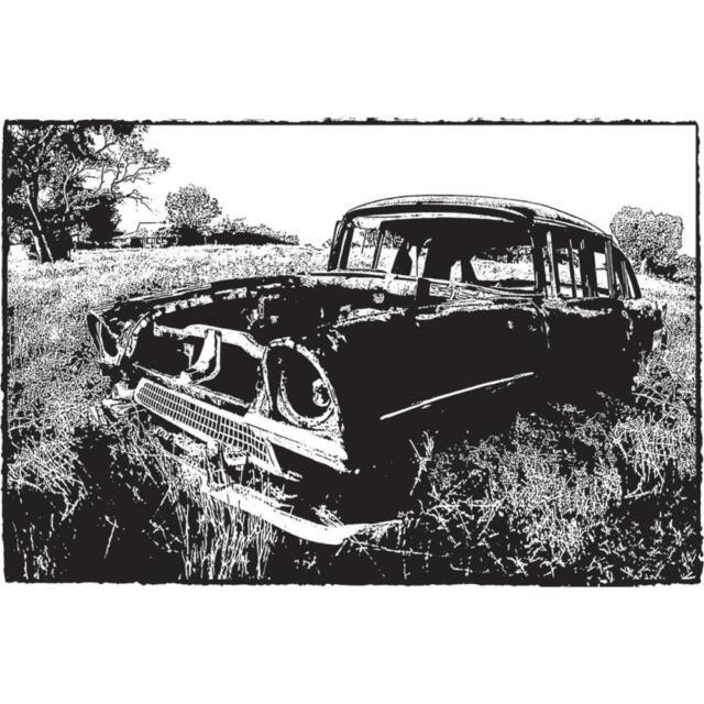 Old Car Photo Stamp Cling Unmounted Rubber Stamp DARKROOM DOOR DDPS016 New