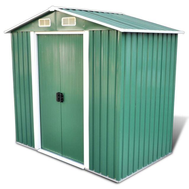 6u0027 X 4u0027 95.3 F3 Outdoor Steel Garden Storage Utility Tool Shed Backyard W