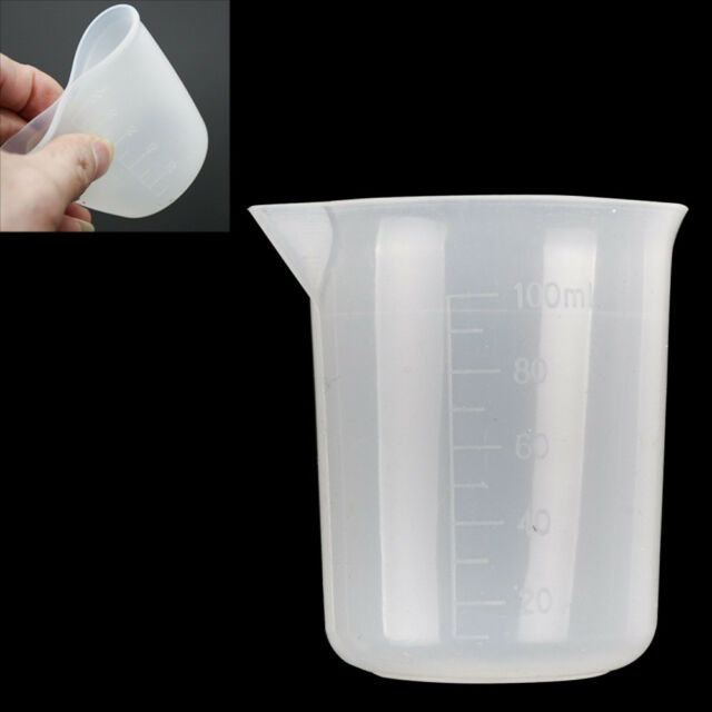 1Pcs Silicone 100ml Measuring Cup For Jewelry Crystal Scale Resin Glue Molds