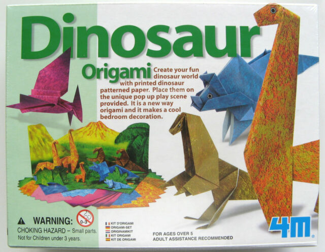 MAKE YOUR OWN ORIGAMI DINOSAUR DINOSAURS - BRAND NEW IN SEALED BOX!
