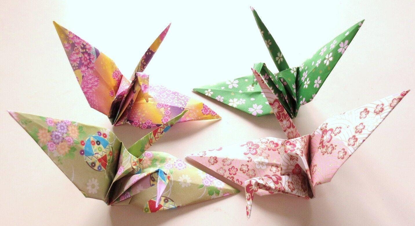 Origami handmade crane 8 japanese traditional pattern flower brand new lowest price jeuxipadfo Images