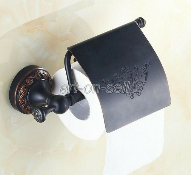 Black Oil Rubbed Brass Wall Mounted Bathroom Toilet Roll Holder aba476