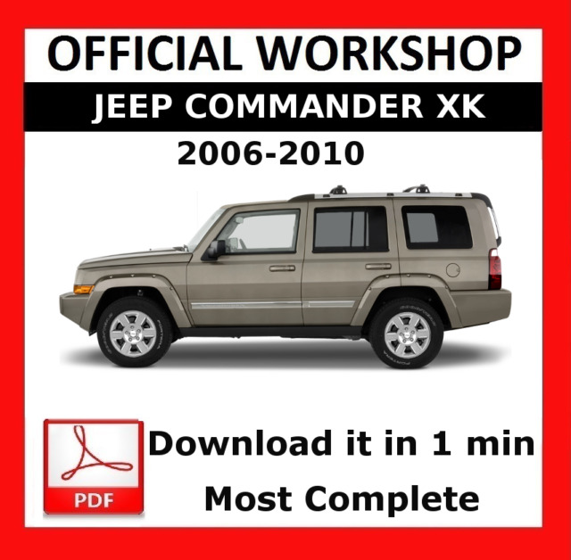 official workshop manual service repair jeep commander xk 2006 rh ebay com 2006 jeep commander factory service manual download 06 jeep commander owners manual