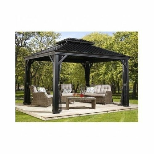 Sojag Messina 10 X 12 Galvanized Steel Roof Sun Shelter Mosquito Netting