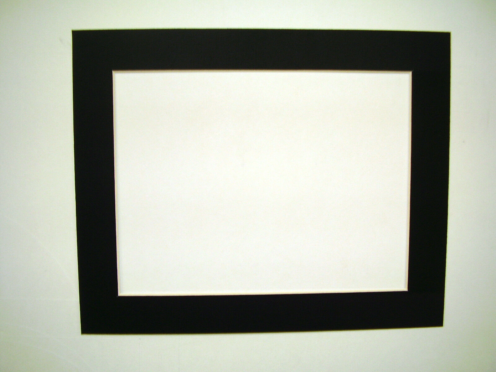 Picture Framing Single Mats 11x14 for 9x12 Art Black With White Core ...