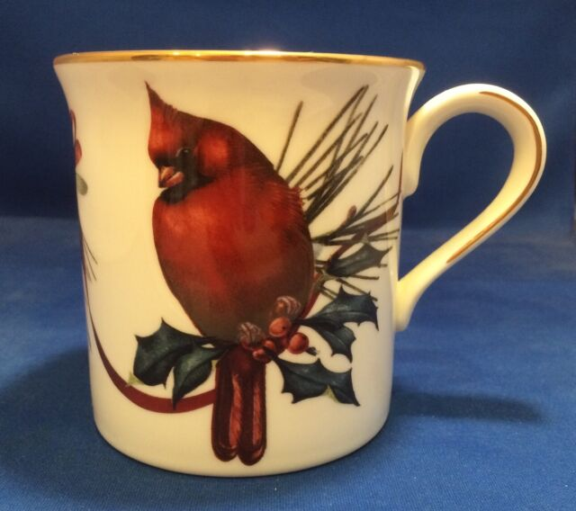 Lenox winter greetings cardinal mug 6049837 ebay lenox winter greetings mug cardinal simple loop handle m4hsunfo